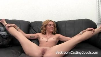 Pretty young babe with natural titties enjoys a fuck session
