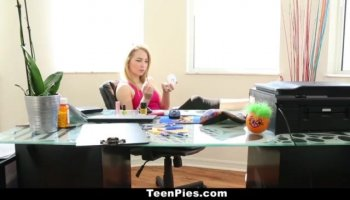 Asuka enjoys toy all over her wet love holes